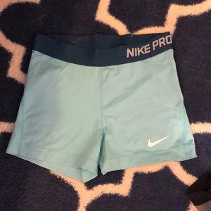 Teal Nike Pro Spandex size M